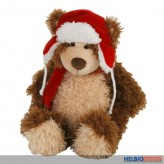 Plüsch Teddybär mit Wintermütze kl.