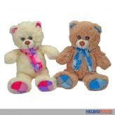 Plüsch Teddybär mit Schal kl. - sort.