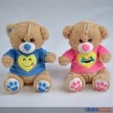 """Plüschtier """"Teddy-Bär mit Smiley-Pullover"""" 20 cm - 2-sort."""