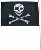 Piraten-Flagge mit Holzstab