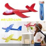 """Styropor-Gleitflugzeug """"Styropor-Flugzeug"""" mit LED - sort."""