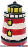 "Keramik-Spardose ""Leuchtturm"" - m. Schloß"
