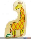 """Holz-Fädeltier """"Giraffe"""""""