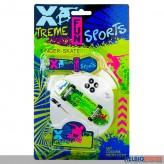 "Finger-Skateboard ""Xtreme Sport"" m. Licht - 3-sort."