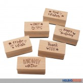 "Holz-Stempel ""Magic Moments - Every Day is Magic"" 6-sort."