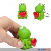 "Schlüsselanhänger Frosch ""Heartbeat - Hallo Glück"""