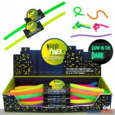 "Dehnbare ""Power Schnur - Glow in the Dark"" - 6-sort."