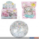 "Konfetti-Glitterballon-Ball ""Believe in Caticorns"" 50 cm"