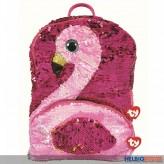 "Ty Fashion - Pailetten-Rucksack 33 cm - Flamingo ""Gilda"""