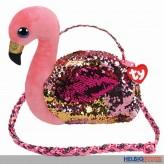 "Ty Fashion - Pailetten-Schultertasche 23 cm Flamingo ""Gilda"""