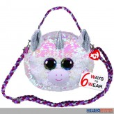 "Ty Fashion - Pailletten-Schultertasche 23cm Einhorn ""Diamond"