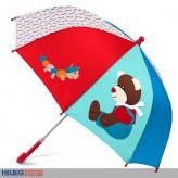"""Kinder-Regenschirm """"Bär Bobby & Raupe Rudi"""" 70 cm"""