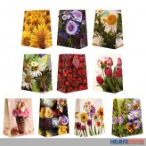 """Geschenktüte """"Blumen-Motive"""" medium - sortiert"""