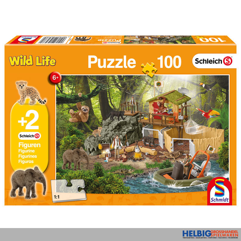 "kinderpuzzle ""forschungsstation urwald"" inkl fig100"