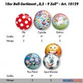 """10er Ball-Sortiment """"9 Zoll"""" 2019 - 5-sort."""