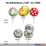 """10er Ball-Sortiment """"5 Zoll"""" 2019 - 5-sort."""